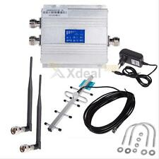 LCD CDMA 850Mhz Cell Phone Signal Repeater Booster Amplifier + Yagi Antenna
