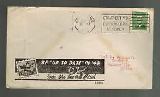 1945 Canada Patriotic cover to Waterville Maine USA 25 Club Up to date