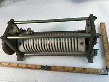 Vintage WW2 Roller Inductor Variable 20 Turns 2In.  No. B-463488-1 Ham Radio