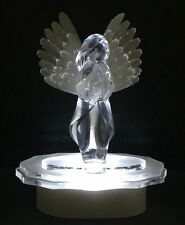 LIGHTED ANGEL W/FIBER OPTIC WINGS CAKE TOP WEDDING TOPPER, CAKE TOP COLORS