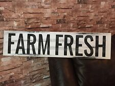 Large Farm Fresh Rustic Kitchen Fixer Upper Style White Wood Sign