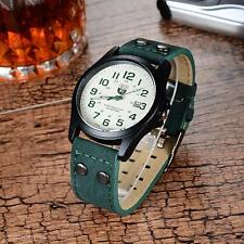 New Handsome SOKI Men Sport Outdoor Faux Leather Belt Band Quartz Wrist Watch
