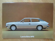 LANCIA BETA HPE 1600 & 2000 LARGE FORMAT 1976 SALES BROCHURE - ENGLISH