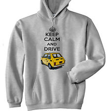 MALUCH POLISH FIAT 126 P KEEP CALM 1 - GREY HOODIE - ALL SIZES IN STOCK