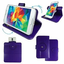 Mobile Phone Book Wallet Case For MEDION LIFE E5005 M - 360 Purple M