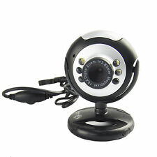 *UK STOCK* USB 6 LED Mega Pixel Webcam Camera & MIC Microphone 4 PC Laptop Skype