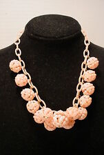 Vintage Pink Plastic Berries Fruit Celluloid Chain  Choker  Necklace