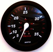 New Faria Red Professional 35 MPH Speedometer Boat Gauge Pitot Type Speedo