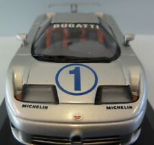 RARE EARLY ISSUE MINICHAMPS BUGATTI EB110 SUPER SPORTS SILVER 1:43 MINT BOXED