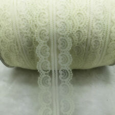 Wholesale 10 Yard Bilateral Handicrafts Embroidered Lace Trim Ribbon Bridal #UK