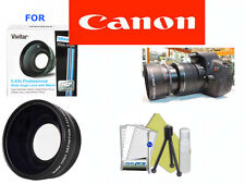 58mm WIDE ANGLE LENS +TRIPOD+CLEANING KIT FOR CANON EOS REBEL T3 T3I T4 T4I T5