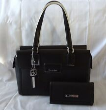 NWT Calvin Klein Valerie Bowler Satchel Bag Purse Handbag With Matching Wallet