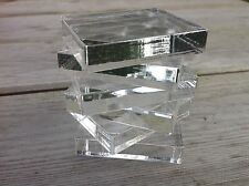 Acrylic stamping blocks,10 mm thick, 4.5 x 5.5 cm , lazer cut, made in uk.
