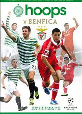 CELTIC v BENFICA 2012/13 CHAMPIONS LEAGUE  PROGRAMME