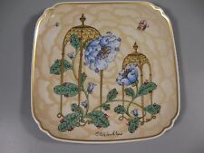 Hutschenreuther Winther Plate 1981Blue Flowers Butterfly