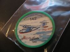 1961 JELL-O HOSTESS AIRPLANE SERIES COIN #142 1942 CANSO HIGH GRADE