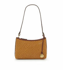 Brahmin Anytime Mini Tobacco Java Leather Pouch Shoulder Bag