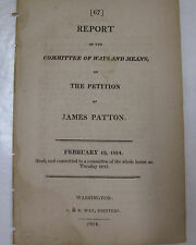 Original Government Doc 1814 James Patton Petition Security Bonds Revenue