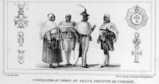 Chevaliers du christ portant gala costumes de la commande Brésil 1839, 7x3 pouces imprimer