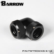 Barrow 90 Degrees Angle Double Compression Fitting For 12mm Rigid Tube Black