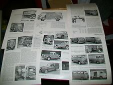CONTINENTAL LIGHT COMMERCIAL VEHICLES BRUSSELS SHOW 1956 MAGAZINE ARTICLE