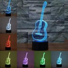 3D Guitar Night Light 7 Colors Change LED Touch Switch Table Lamp Xmas Gifts