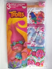 Girls Trolls Panties 3-Pack Size 4 New in Package