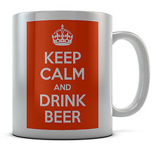 Keep Calm And Drink Beer Mug Cup Gift Idea Present Birthday Coffee Tea