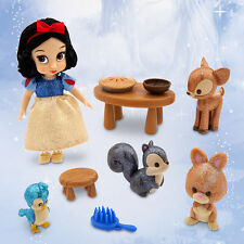 Disney Store Animators' Snow White & 7 Dwarfs Mini Doll Figure Playset Play Set