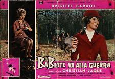 BABETTE S'EN VA T'EN GUERRE Italian fotobusta photobusta movie poster 3 BARDOT