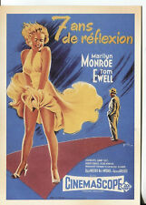 PICTURE POST CARD OF A FRENCH MOVIE POSTER FOR 7 YEAR ITCH MARILYN MONROE