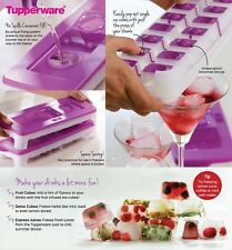 Tupperware cool cube ice tray-ice cubes plateau-violet ~ neuf