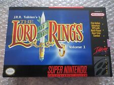 J.R.R. Tolkien's The Lord of the Rings, Vol. 1 Super Nintendo SNES Complete CIB