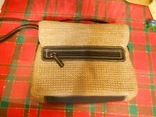 Ladies pocketbook: charter club classics, brown weave type pattern, clutch