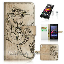 SONY Xperia Z3 Flip Wallet Case Cover! P0606 Dragon