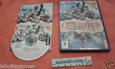 CIVILIZATION 3 III CONQUESTS SID MEIER'S PC MAC DVD-ROM PAL FR