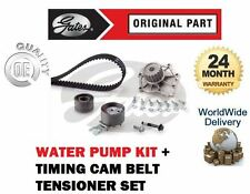 Per VOLVO S60 2.4 D5 TDI 2001 - & GT GATES Timing Cam Belt KIT TENSIONATORE + POMPA ACQUA