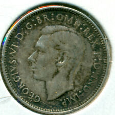 1942-D AUSTRALIA SILVER SIX PENCE, GREAT PRICE!