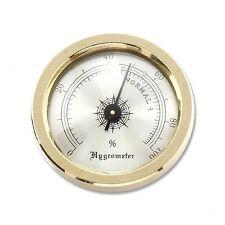 Hygrometer zum Einbauen in Humidore Messing gold 4,5 cm Durchmesser / 76134