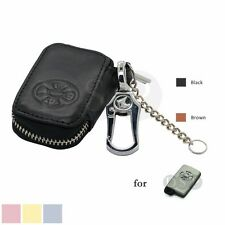 Genuine Cow Leather Zipper Bag Cover fit for TOYOTA Smart Remote Key 5401 BK