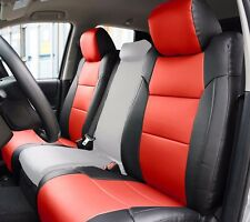 TOYOTA TUNDRA 2014-2016 BLACK/RED S.LEATHER CUSTOM MADE FIT FRONT SEAT COVER