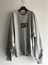 JUSTIN BIEBER X CHAMPIONS Purpose Tour STAFF Sweatshirt By Jerry Lorenzo GREY XL