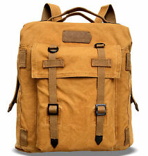 ALILAW vintage retro canvas backpack DUAL USE rucksack briefcase book bag hiking