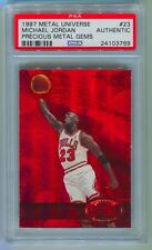 1997-98 PRECIOUS METAL GEMS MICHAEL JORDAN #023/100 JERSEY # PSA AUTHENTIC 1/1