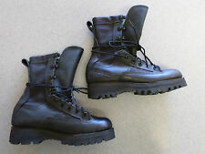 "Belleville ""0322"" black leather, gore tex lined,combat boots. Women's 5 N"