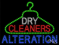"NEW ""DRY CLEANERS ALTERATION"" LOGO 26x20 SOLID/ANIMATED LED SIGN W/OPTIONS 21246"