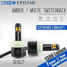 3157 White Amber Dual Color Switchback LED Turn Signal Light Bulbs Lamp Kit