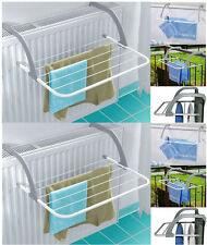 2x Folding Radiator Cloth Airer Rack Clothes Laundry Dryer Portable Camping
