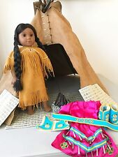 American Girl Doll Kaya Lot With Teepee And 2 Outfits Includes Kayas Box