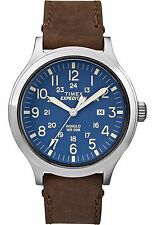 "Timex TW4B06400, Men's ""Expedition"" Brown Leather Watch, Scout, TW4B064009J"